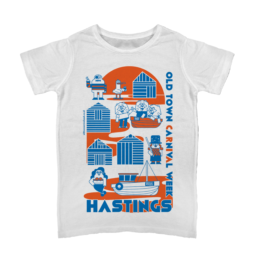 2930636ed High Quality T-Shirt wth unique design in red and blue for Hastings ...
